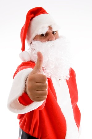 santaclause: potrait of santa clause on an isolated white background Stock Photo