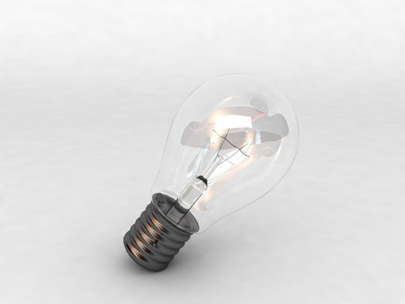 computergraphics: 3D lighting bulb with white background