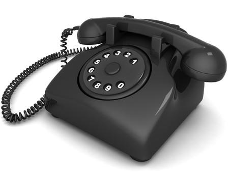 isolated 3D landline phone photo
