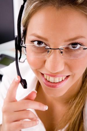 usługodawcy: widok z góry na uśmiechnięte usługodawcy w biurze Zdjęcie Seryjne