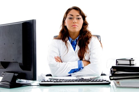 medical professional posing in an office photo