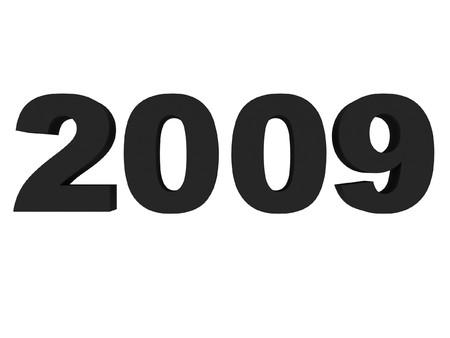 digitally generated: three dimensional 2009 text