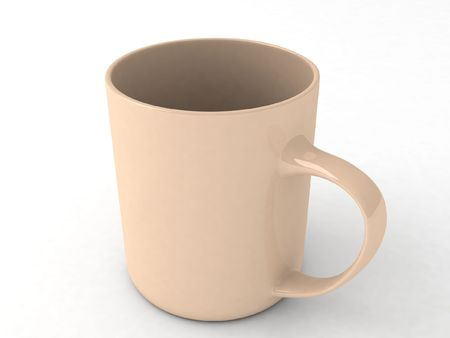 three dimensional isolated coffee mug photo