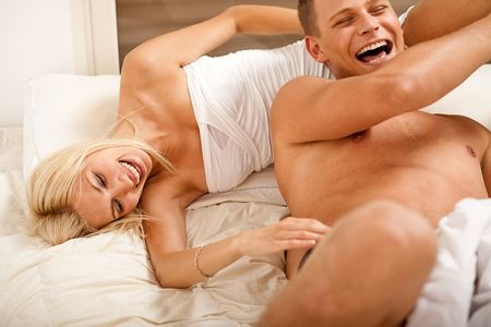 Couple playing bedroom games