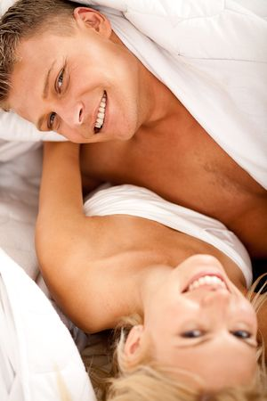 Man leaning on her wife and having fun Stock Photo - 5107918