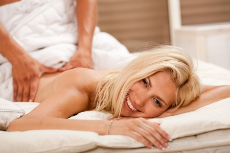 seduction: Pampered young woman Stock Photo