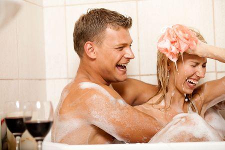 Young couple bathing Stock Photo - 5107933