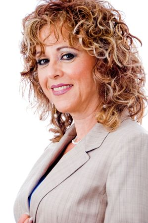 entrepeneur: Charming business lady smiling Stock Photo