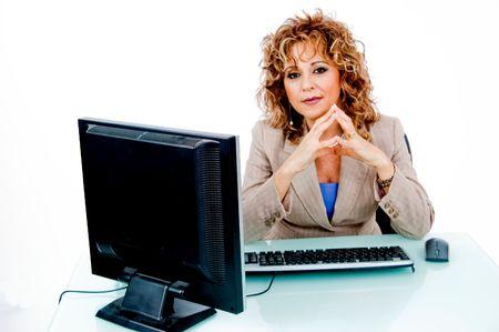 entrepeneur: Corporate feminine at her desk