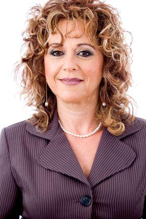 entrepeneur: Isolated businesswoman smiling Stock Photo