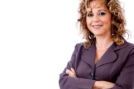entrepeneur: Successful senior woman standing with folded arms