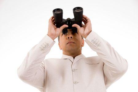 Businessman eyeing future photo