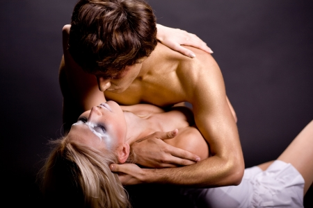 love making: Young couple making love