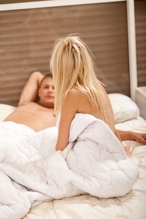 couple talking after sex Stock Photo - 5291942