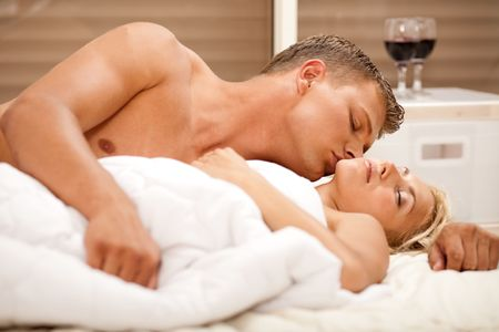 Man kissing to his wife Stock Photo - 5302899
