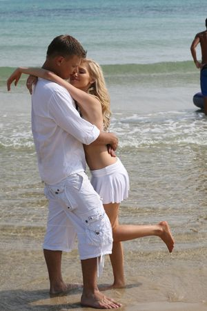 Together on the beach photo