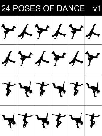 tanzende Menschen auf squarry Hintergrund Lizenzfreie Bilder - 5356972