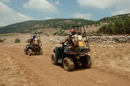 Quad motorcycle racing