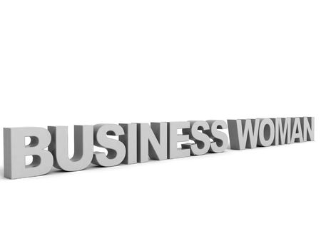 isolated three dimensional business woman word