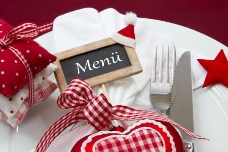 menue: Menue for christmas - knife and fork
