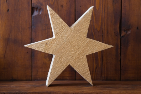untreated: Texture of untreated wooden star Stock Photo