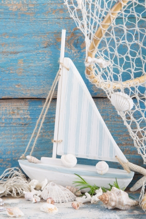 cruising: Toy sailingboat - maritime decoration - cruising