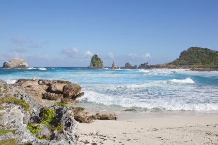 guadeloupe: Blue turquoise ocean - coast landscape for a holiday summer background