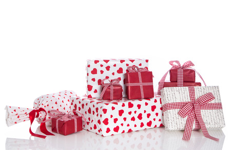 Isolated presents for christmas, birthday, mother photo