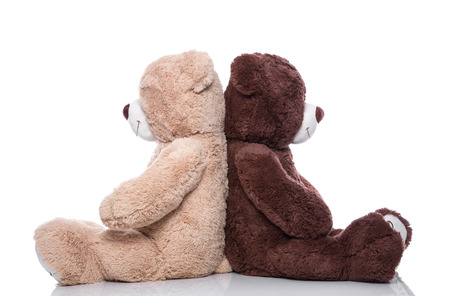 teddy: Teddy bear - lovers have problems - concept for problems, friendship, wedding, partnership or teamwork Stock Photo