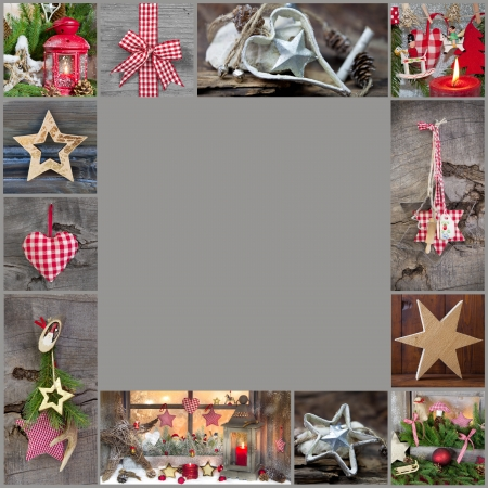 whittle: Rustic and classic decoration ideas for christmas - country style background or frame with wood