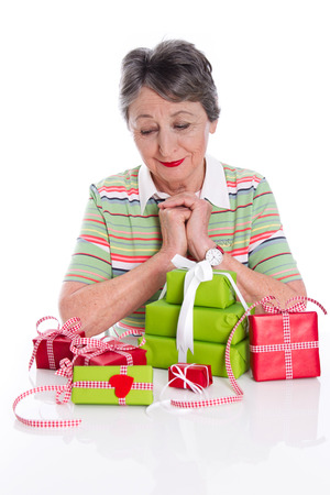 Grandma's 75th Birthday - Gifts Stock Photo - 23827273
