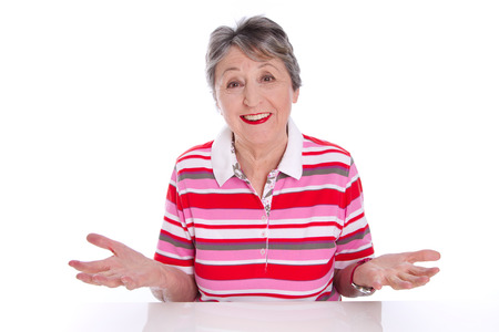 Happy old woman - Wisdom of Life Stock Photo - 23827275