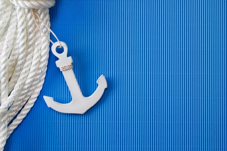 Ship anchor - anchor or lifeline as maritime decorations