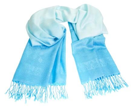fringes: Cashmere scarf on white background - fashion.