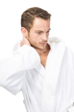 Masculinity - man in bathrobe Stock Photo - 24171548