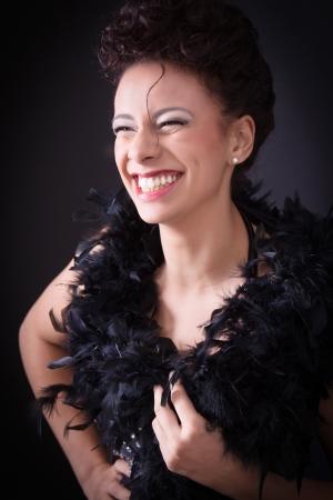 eroticism:  Charming smile of elegant woman