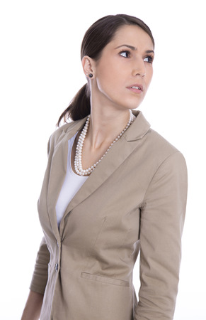 blazer: Isolated caucasian business woman looking sideways or away Stock Photo
