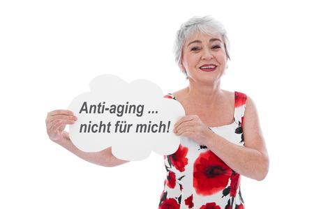 Senior woman says no to anti-aging