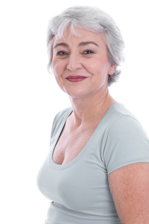 menopause: Female Beauty in age Stock Photo
