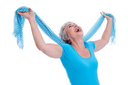 Tenslotte pensioen oudere vrouw