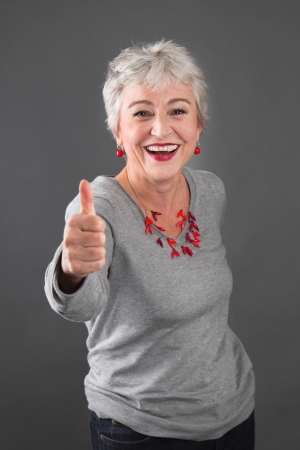 Older power woman  Stock Photo