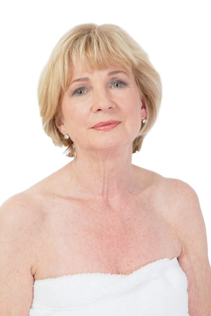 womanhood: Older lady at the spa Stock Photo