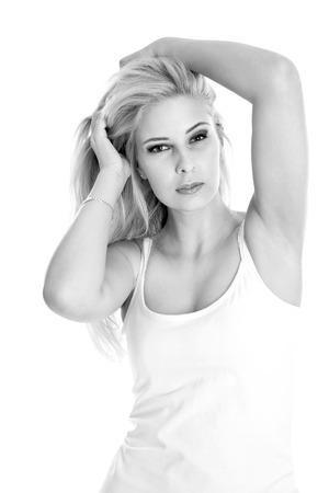 gir: Isolated blonde sexy gir - portraitl Stock Photo
