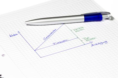 perdidas y ganancias: El cálculo económico: el punto en el resumen gráfico de equilibrio