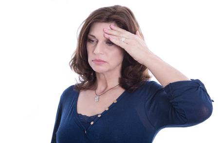 Ältere Frau hat Midlife-Crisis
