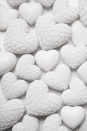 white hearts of stone with small roses shabby chic style stock photo rh 123rf com shabby chic hearts wholesale shabby chic hearts pinterest