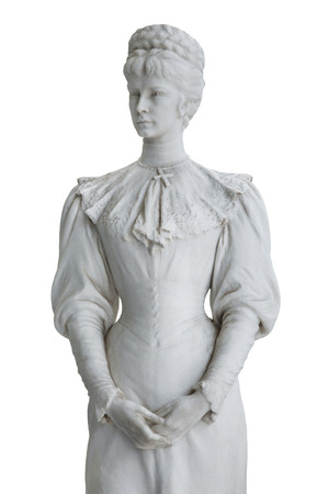 sissy: Isolated sculpture of Empress Elisabeth II from Austria in Corfu at the Achilleion. Stock Photo
