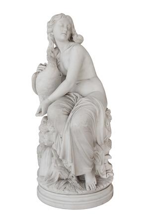 Isolata scultura di Afrodite nel Achilleion di Corfù in Grecia