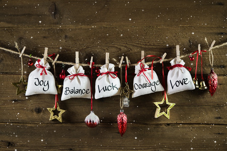 felicitation: Christmas without gifts - presents from the heart with love, luck, happiness.