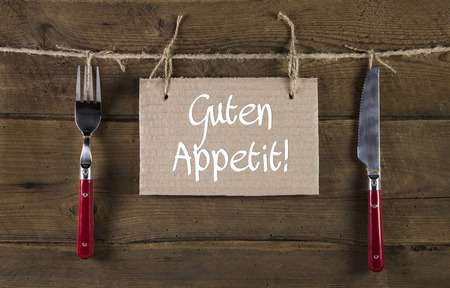 Bon appetite or enjoy your meal in german language.